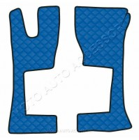 Coppia tappeti in similpelle Blu Mercedes Actros MP4 (09/11>) cabina stretta <br
