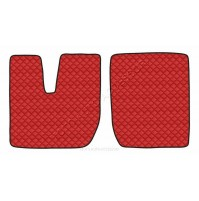 Coppia tappeti in similpelle Rosso Iveco Stralis (08/02>12/12) cabina larga Ivec