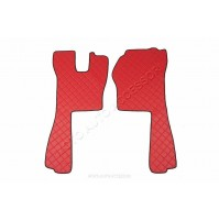 Coppia tappeti in similpelle Rosso Scania R Serie 5 (03/04>08/09) <br><br>-  Imb