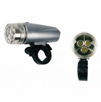Luce ant. SILVER 3 LED int-bici Luce anteriore